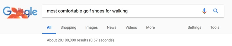 google search for golf shoes